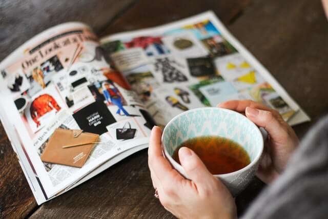 お茶と雑誌