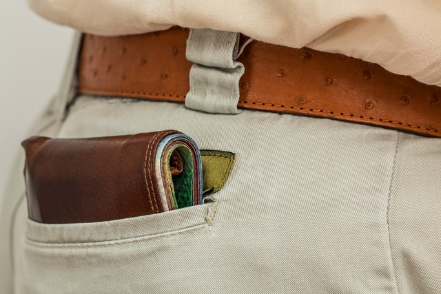 男性の財布