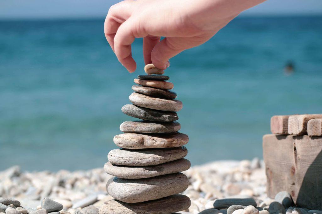 石を積み上げてメンタルケア